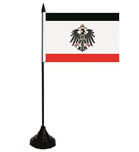 U24 Tischflagge Kaiserreich mit Adler Deutschland Fahne Flagge Tischfahne 10 x 15 cm