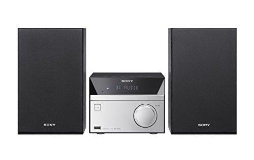 Sony cmt-sbt20b-Hi-Fi-System mit CD, Bluetooth, DAB und FM Radio–Schwarz/Silber