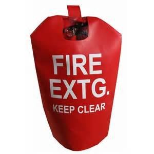(10 Pack) - FIRE EXTINGUISHER COVERS (With Window) for 15 to 20lb. Extinguishers, Large 32