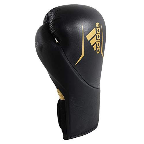 adidas Erwachsene Speed 300-schwarz, adiSBG300 Boxhandschuhe, schwarz/Gold, 16 oz