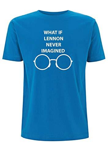 Time 4 Tee What if John Lennon Never Imagined T Shirt Quote Imagine Songtekst van Imagine Glasses Beatles Oasis Indie