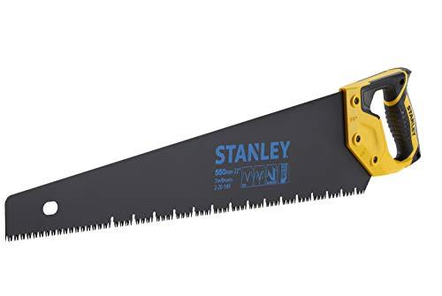 Stanley JetCut Gipskartonsäge Appliflon (550 mm Klingenlänge, 45°/90°Anschlag, Hardpoint-Verzahnung, Bi-Material) 2-20-149