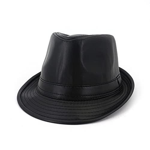 WAZHX Sombrero De Hombre Panamá Cuero Sólido Vestido Clásico Iglesia Decoración De...