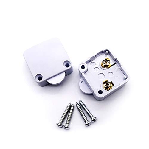 Concisea 2Pcs Commutateur D'armoire de Porte Interrupteur D'éclairage Automatique pour Placards Allumage Lumière de Porte Ouvert Quand l'interrupteur est Poussé