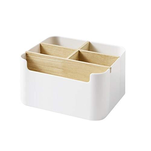 OUNONA - Organizador de escritorio multiusos para escritorio, papelería, caja de almacenamiento para mando a distancia