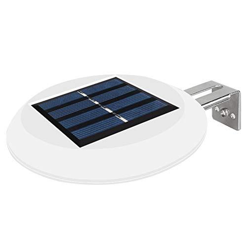 Afittel88 Solar-Zaun-Lichter, Outdoor-LED-Licht, Solar-LED-Gartenzaun-Lichter, kabellos, Garten-Solarleuchten, Zaun-Lampen, Terrasse, runde Wandleuchten für Hof-Zaun-Tür.