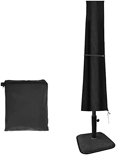 Tvird Funda para Parasol, Funda Sombrilla Jardin, 420D, Impermeable, Antipolvo, Resistente a los Rayos UV, con Bolsa de Almacenamiento,190 x 30 x 50 cm,Negro
