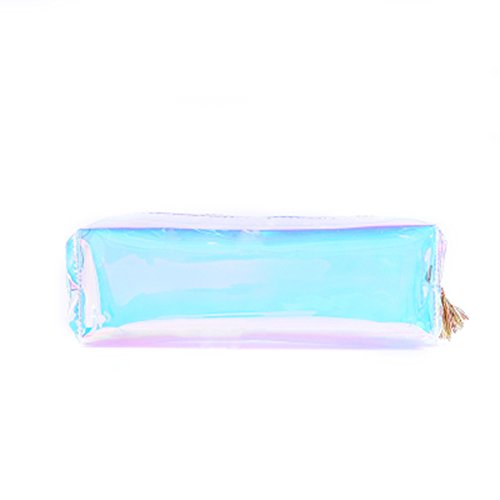 Estuche Transparente Multicolor Caja de Lápiz Pencil Case Funda de Lápices Regalo Estuche Escolar
