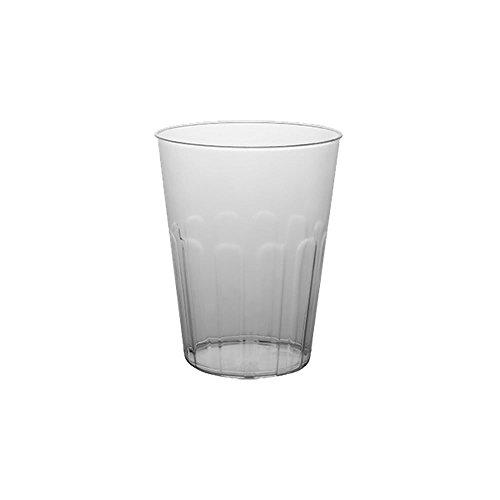 DoimoFlair Cocktailglas aus Kunststoff Bruchsicher Cocktailbecher Plastik Transparent milchiger Optik 60 cl Set 20 Stück