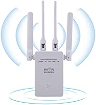 Dekultoy 1200Mbps WiFi Range Extender, 5G&2,4Ghz Dual Band WiFi Extender Signal Booster for Home,and Internet Booster with Ethernet Ports(White)