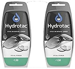Hydrotac OPTX 20/20 Stick On Magnification Reusable Bifocal Lenses - +1.50 Diopter (Pack of 2)