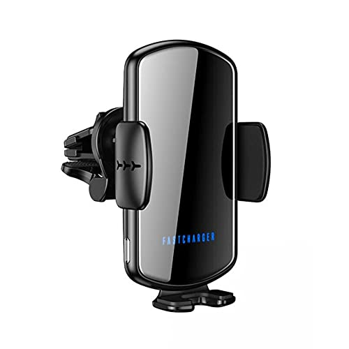 Cargador de automóvil inalámbrico, soporte de teléfono móvil de cargador de automóviles automático automático Qi, soporte de teléfono móvil de carga de coche