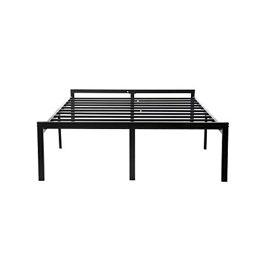 zizin 16 Inch King Metal Bed Frame with Storage Platform Mattress Foundation with Headboard Sturdy No Box Spring Needed (King)