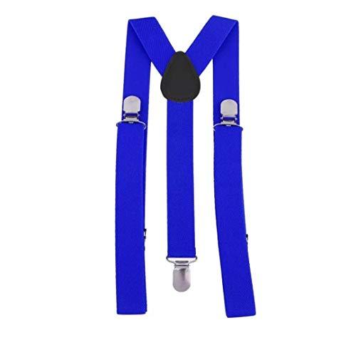 Tirantes Elásticos Y Unisex Azul Oscuro - Ancho 25 mm Ajustables - Hombre, Mujer, Niños.