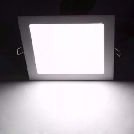 Plafon 25W Luminária Embutir LED Painel QUADRADO Slim Branco Frio 6500K