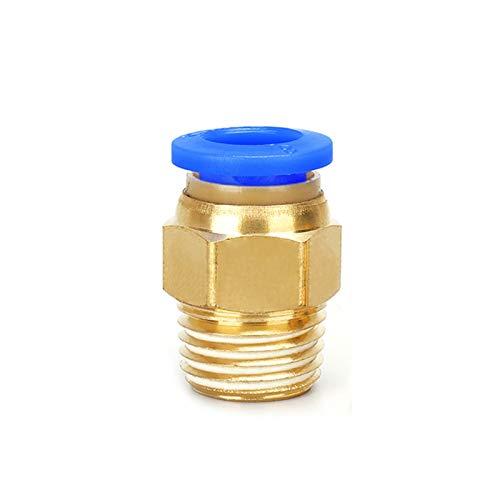 F-MINGNIAN-TOOL, MN-Tube, 1pc Aire neumático PC Montaje de Conector rápido M5 4 mm 6 mm 8 mm 10 mm 12 mm Rosca Macho 1/4 1/2 1/8 3/8 comprimido Manguera del Tubo (tamaño : 6 01)