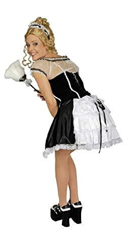 narrenkiste K31250566-40-42 - Disfraz de nia (tallas 40-42), color blanco y negro