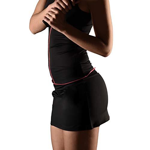 Duruss Falda de Deporte Técnica para Mujer con Short Interior. Fitness Pádel Tenis Entrenamiento Bádminton.