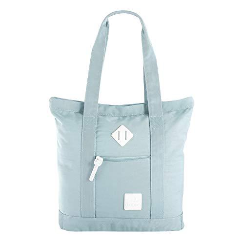 Unbekannt Let's Go Shopper Dorethe 31.1139 | Einkaufstasche mit Reißverschluss | Badetasche Strandtasche für Sommer | praktische Alltagstasche | modernes Design (soft blue)