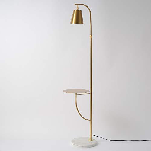Lámpara de pie nórdica, sofá de salón, lámpara de mesa de café de mármol, mesita de noche, lámpara de mesa vertical de lujo con luz posmoderna, atenuación de tres colores dorada: Amazon.es: