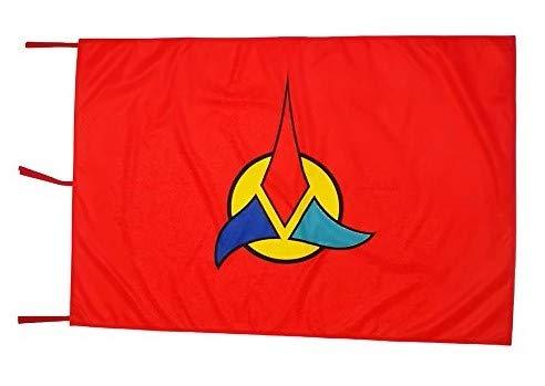 Savent Star Trek Offizielle CBS Flagge – Klingon Flag – Rot cm 100 x 150 cm