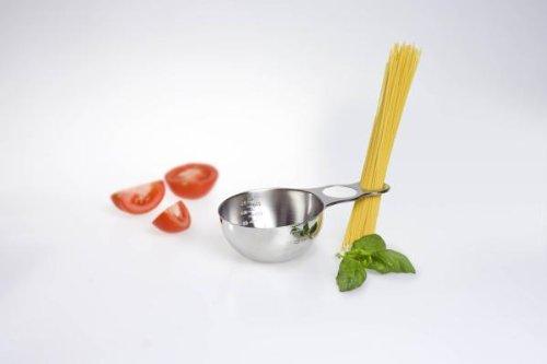 G S D Haushaltsgeräte 31 101 - Bricco misuratore con dosatore per Spaghetti, in Acciaio Inox
