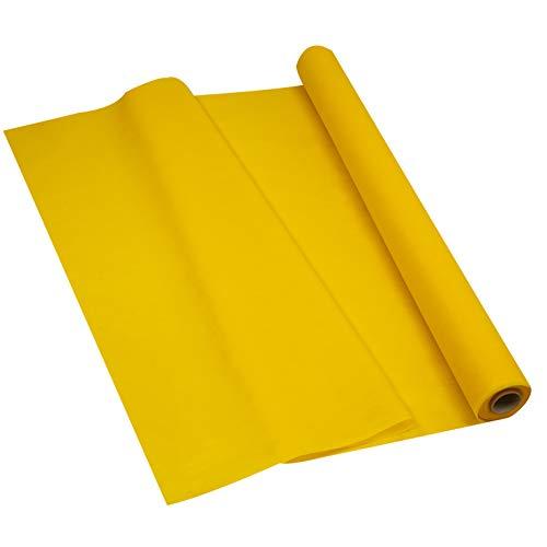Sensalux Light Tischdeckenrolle, Oeko-TEX ® 100 - Made in Germany - 25m lang (Farbe nach Wahl), gelb, 1,10m x 25m, stoffähnliches Vlies, ideal für Jede Party, Vereinsfeier, Geburtstagsfeier
