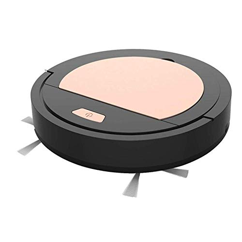L-TC Anti-fall Nieuwste USB opladen Smart Robot Stofzuiger, creatief cadeau automatische reiniging Machine Robotic Vacuum for huishoudelijke Dust Removal Smart Sensor, kantoor en thuis (Kleur: Zwart)