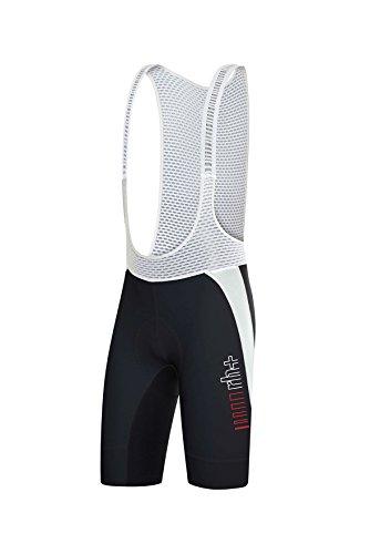 RH+ Drysknax Bibshr, Pantalone da Ciclismo Uomo, Nero/Bianco, M