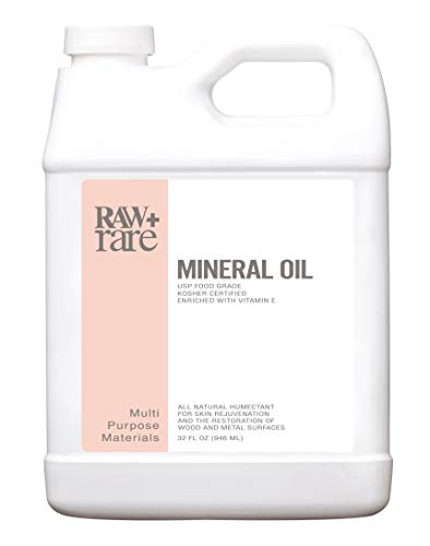 Mineral Oil 32 oz, Food Grade Safe Wood/Bamboo Oil, Cutting Board, Butcher Block Conditioner, Knife Blade, Cast Iron Tools, Pans For Food Kitchen, Vegan by Raw Plus