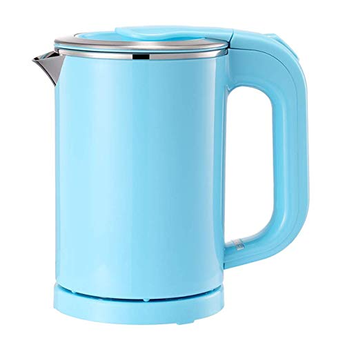 Portable Electric Kettle  05L Mini Stainless Steel Travel Kettle  Water Touch Inner Surface without Plastic amp Cool Touch Outer Surface Blue