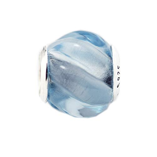 Jewelry Bracelet 925 Pandora Natural Sterling Silver Aqua Blue Crystal Ripples Charm Beads Fits Charms Silver Original Kralen Diy Gifts For Women