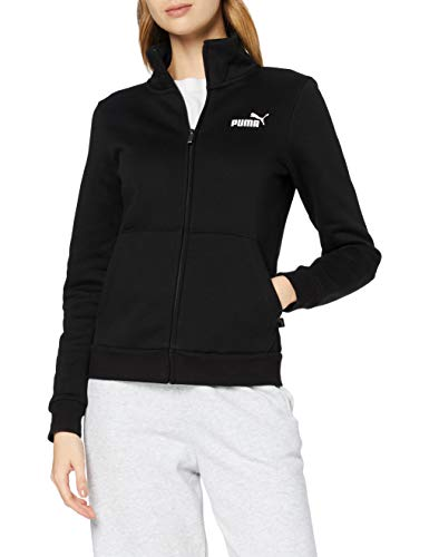 PUMA Essentials, Felpa Donna, Nero (Cotton Black), M