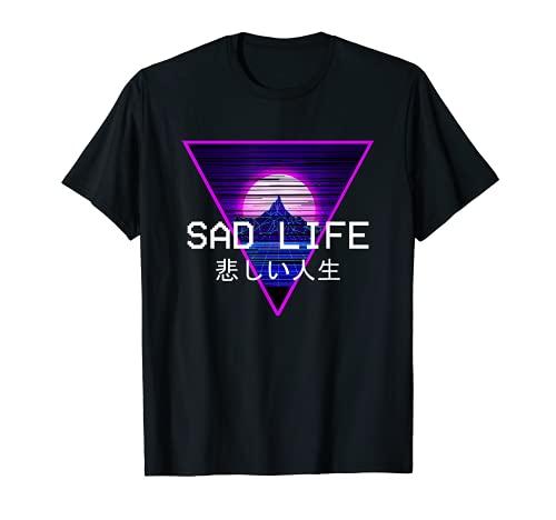 Sad Life Vaporwave Egirl Evy Goth Aesthetic Style Gift T-Shirt