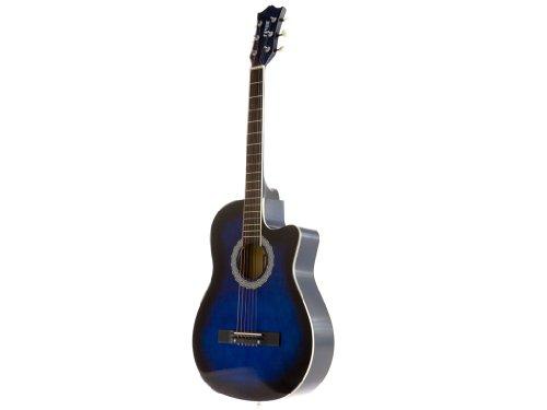 Fever FV-030C-DBL 3/4 38-Inch Acoustic Cutaway Guitar, Blueburst