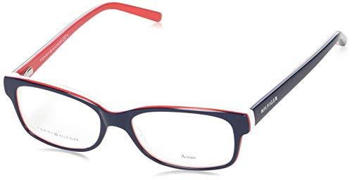 Tommy Hilfiger Brillengestelle TH1018-UNN-52 Rechteckig Brillengestelle 52, Rot
