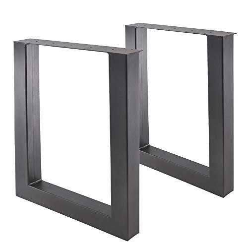 Preisvergleich Produktbild Bentatec 2 Stück - Tischgestell-Stahl U - 8080 Tischbeine Tischgestell Tischkufen Esstisch