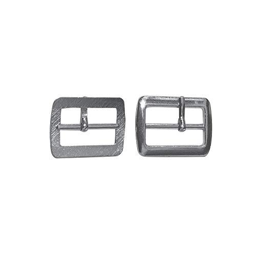 Trimming Shop 20mm Silber Unisex Schuhschnalle, langlebig, leicht für Schuhe, Sandalen, Gürtel, Modeaccessoires, 50 Stück