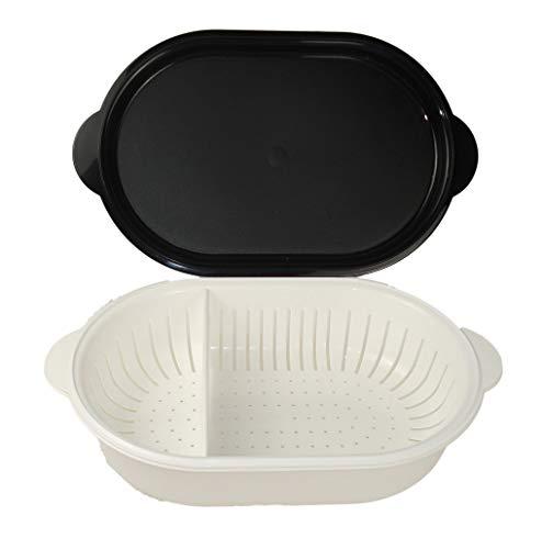 TUPPERWARE Küchenhelfer Sieb Super Servierstar 4,0 L schwarz-weiß Küchenchef 8936