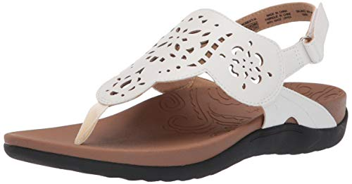 Rockport Women Ridge Circle Sling Slide Sandal, White, 9 M US