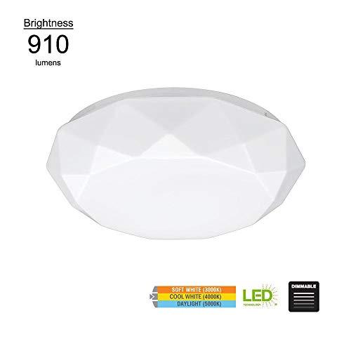 Hampton Bay 12 in. Diamond Design 3000K 4000K 5000K Selectable LED Flush Mount Ceiling Light