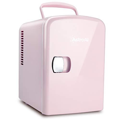 AstroAI冷蔵庫小型ミニ冷蔵庫小型冷蔵庫冷温庫4L小型でポータブル化粧品家庭車載両用保温保冷2電源式便利な携帯式コンパクトプレゼント日本語説明書3年保証付き(ピンク)