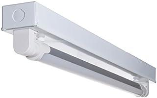 共同照明 LED蛍光灯20W形 トラフ20W形器具1灯式 ベースライト 蛍光管 (GT-SETRGD-10W58CW-Z1) 昼光色 G13 照明器具セット 天井 蛍光灯器具 LEDライト シーリングライト 施設用 PL保険加入 LED