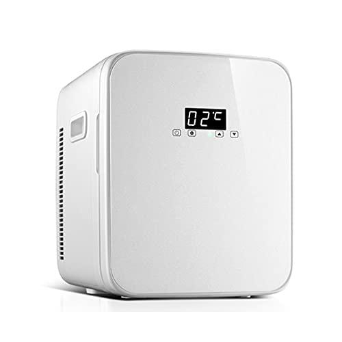 Mini Nevera Mini Refrigerador De Temperatura Ajustable, Refrigerador Portátil De La Belleza del Coche del Hogar, con Enfriador Y Calentador De Potencia AD/CD (Color : White, Size : 220V)
