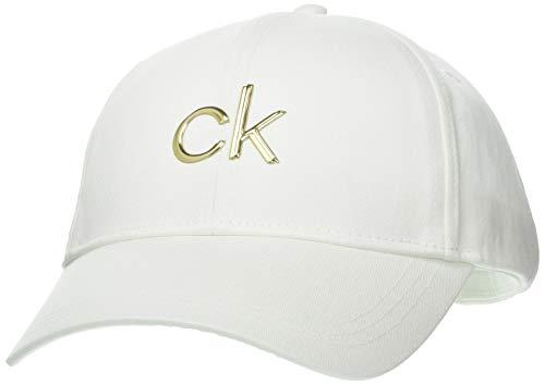 Calvin Klein Jeans BB cap Cappellino da Baseball, CK Bianco, Taglia Unica Donna