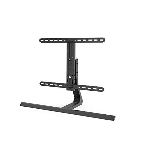 Hama Fernsehständer höhenverstellbar, neigbar (TV-Standfuß universal für 32-65 Zoll Fernseher, bis 40 kg, TV-Halterung schwenkbar, schmaler Tischständer, VESA bis 600x400) schwarz