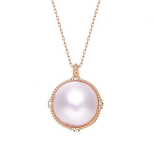 Naisicatar Joyería Pendiente del Collar Collar Pendiente De Mujeres Rose Golden Pearl Regalo para Mujeres Mamá