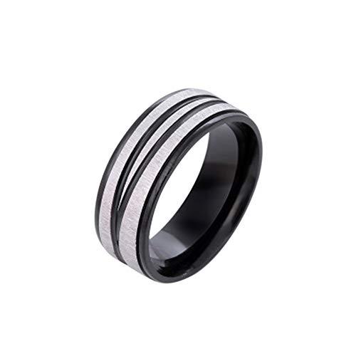 Festnight Einfacher medizinischer Gewichts-Verlust-Ring-Mode-magnetischer Gesundheitswesen-Fingerring des Edelstahls