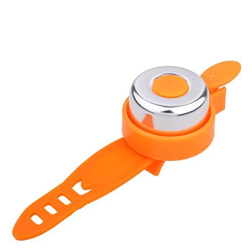 VOSAREA Fahrradklingel Mini Klingel Kunststoff Glocke Klingel Alarm Hupe Loud Clear Sicherheitswarnung Fahrradhorn für Kinder Fahrrad Mountainbike Zubehör (Orange)