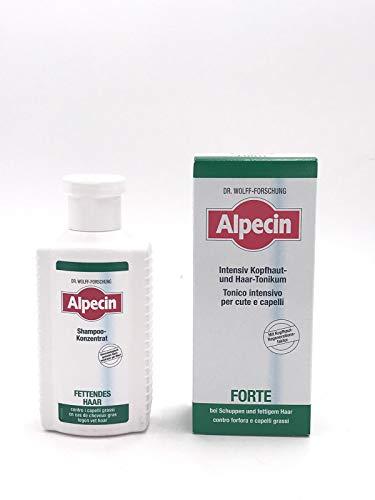 Alpequin - Kit de champú para el cabello de 200 ml + tónico fuerte de 200 ml - Ideal para cabellos con caspa y grasas DR.WOLFF-FORSCHUNG